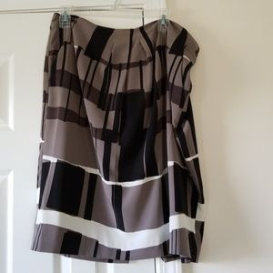 Ellen Tracy Black Combo Skirt  14 NWT